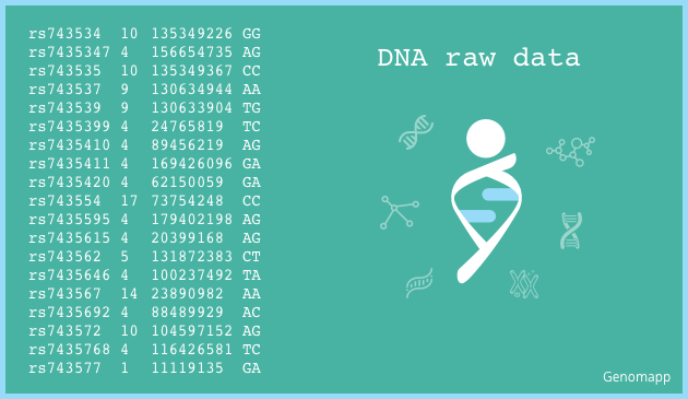 Example of DNA raw data